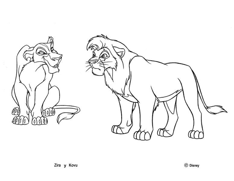 Coloring pages - Simba's Pride Fun site